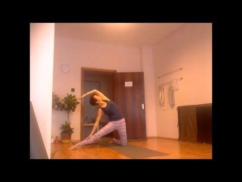 50 perces közepes intenzitású kezdő jóga  youtube  yoga