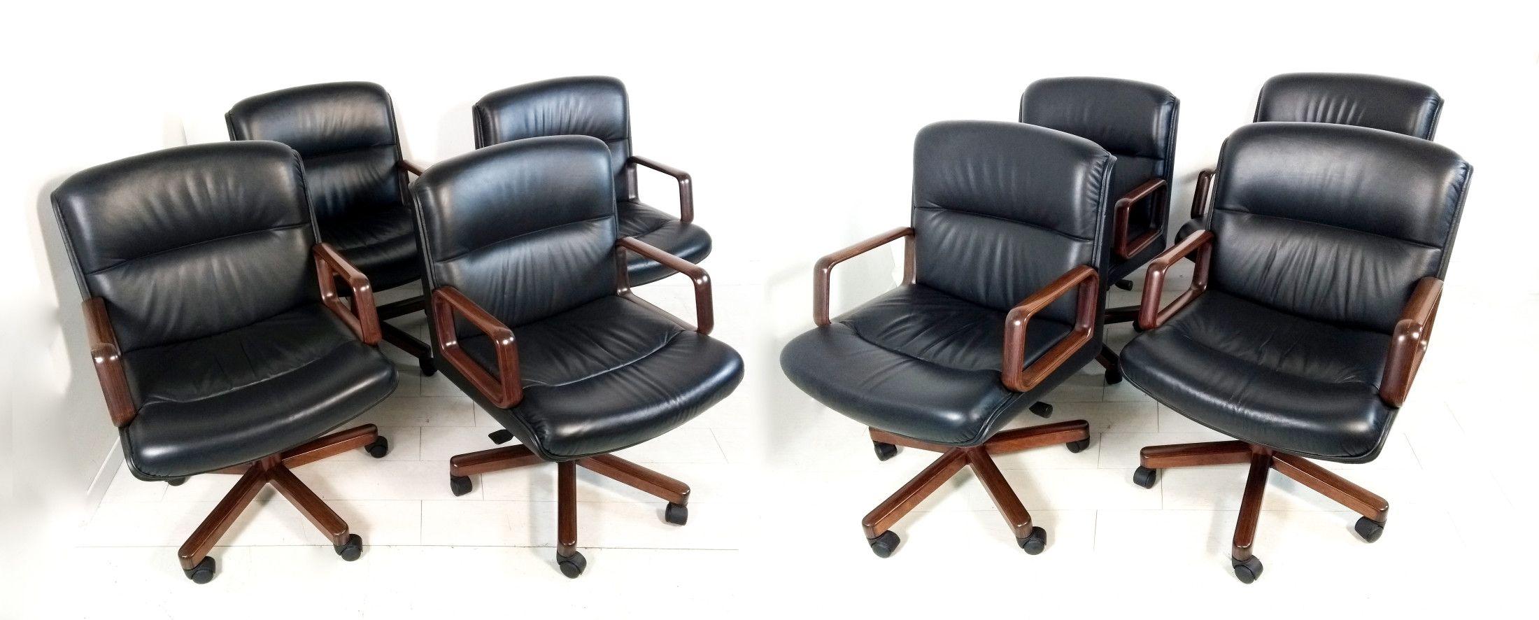Set di otto sedie da ufficio, sala riunioni, design F.lli ...