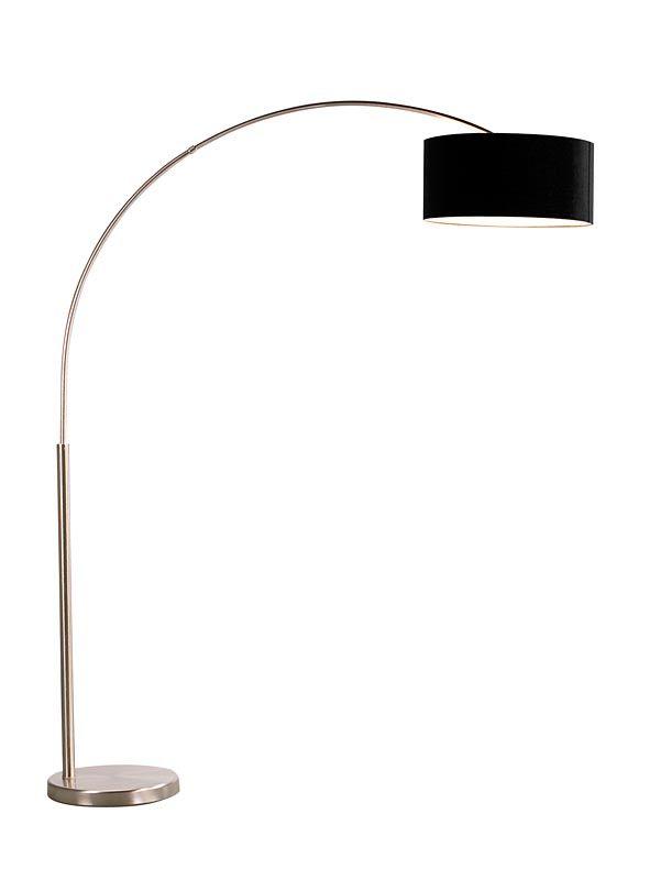 vloerlamp grando booglamp in zwart of wit voor een moderne