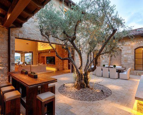 Casas estilo r stico para campo rancho jardines for Estilos de jardines para casas
