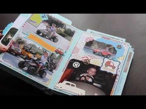 (71) Скрапбукинг.Фотоальбом своими руками с нуля - YouTube ...