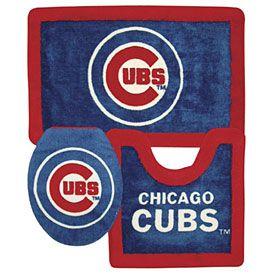 Chicago Cubs 3 Piece Bath Rug Set  Notre Dame  Pinterest  Bath Mesmerizing 3 Piece Bathroom Rug Sets Design Ideas