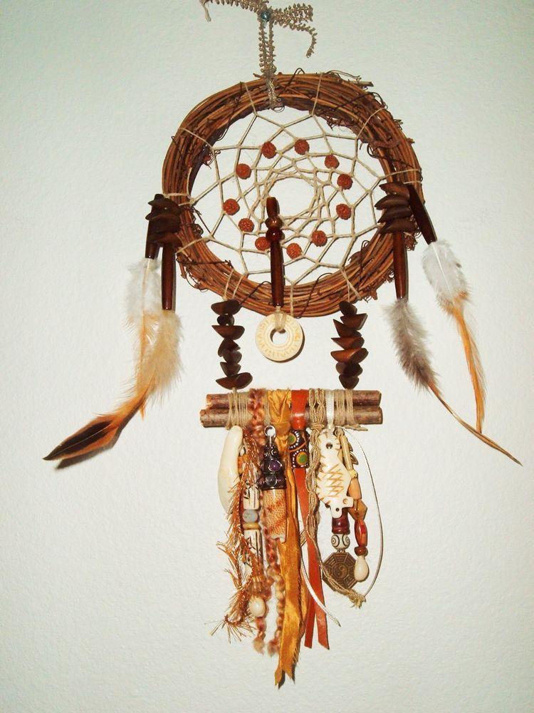 Handmade Dream Catcher Chippewa Wood Twig Ribbon Shell Seed Enchanting Chippewa Dream Catchers