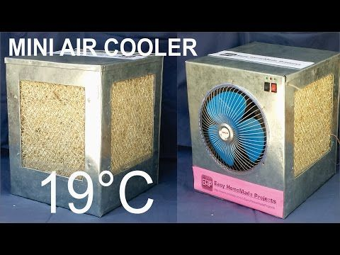 How To Make An Air Cooler At Home Air Cooler Diy Swamp Cooler Diy Air Conditioner