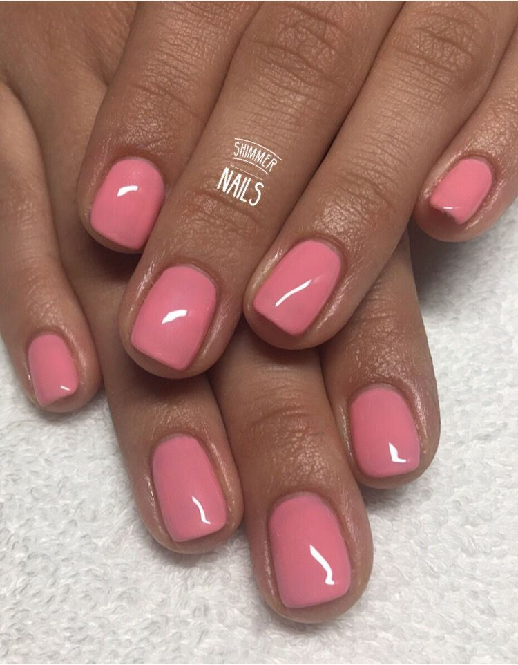Simply Gorgeous Peachy Pink Nails Book Your Appointment Now Text 07590 527156 St Albans Herts Uk Pink Nails Nail Shimmer Nails