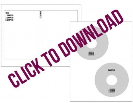 How to Make Simple DVD Labels and Case Covers (with free templates - cd label