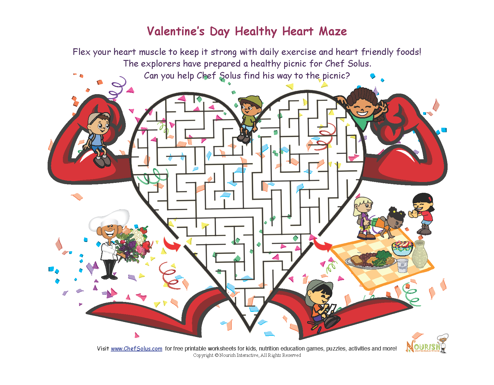 Challenge your kids to a heart-healthy Valentine's Day maze!