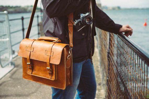 Messenger Bag Men 13 Leather S Briefcase By Bennybeeleather