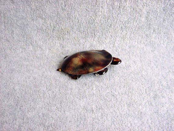 Lea Stein Casimir the turtle Brooch