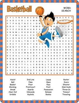 Basketball Word Search Worksheet by Puzzles to Print | Teachers ...
