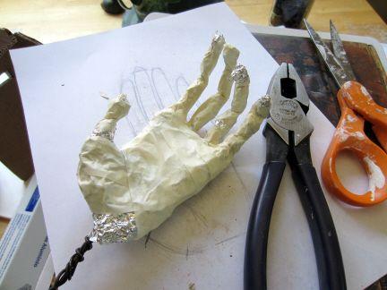 Poseable Hand Armature For Paper Mache Clay Paper Mache Paper