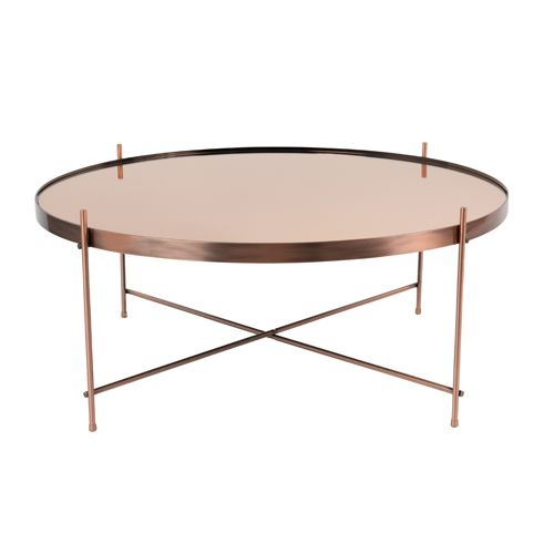 table basse ronde en métal cuivré cupid zuiver - gm | tables