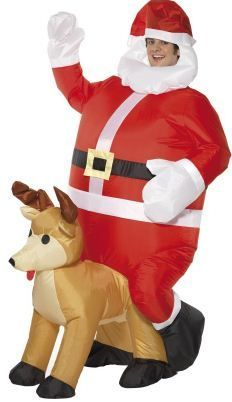 Fancy Dress Blow Up Inflatable Santa Father Christmas Suit Reindeer Costume