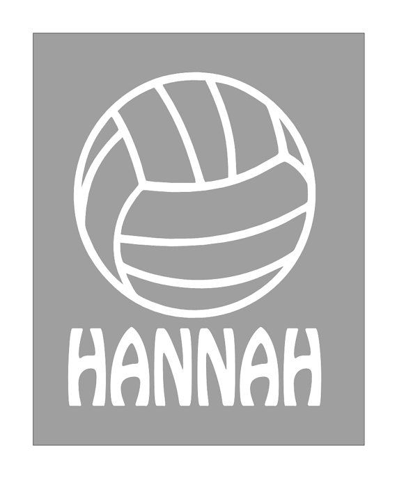 Personalized Car Window Decal Volleyball By LeslieScraps On Etsy - Team window decals personalized