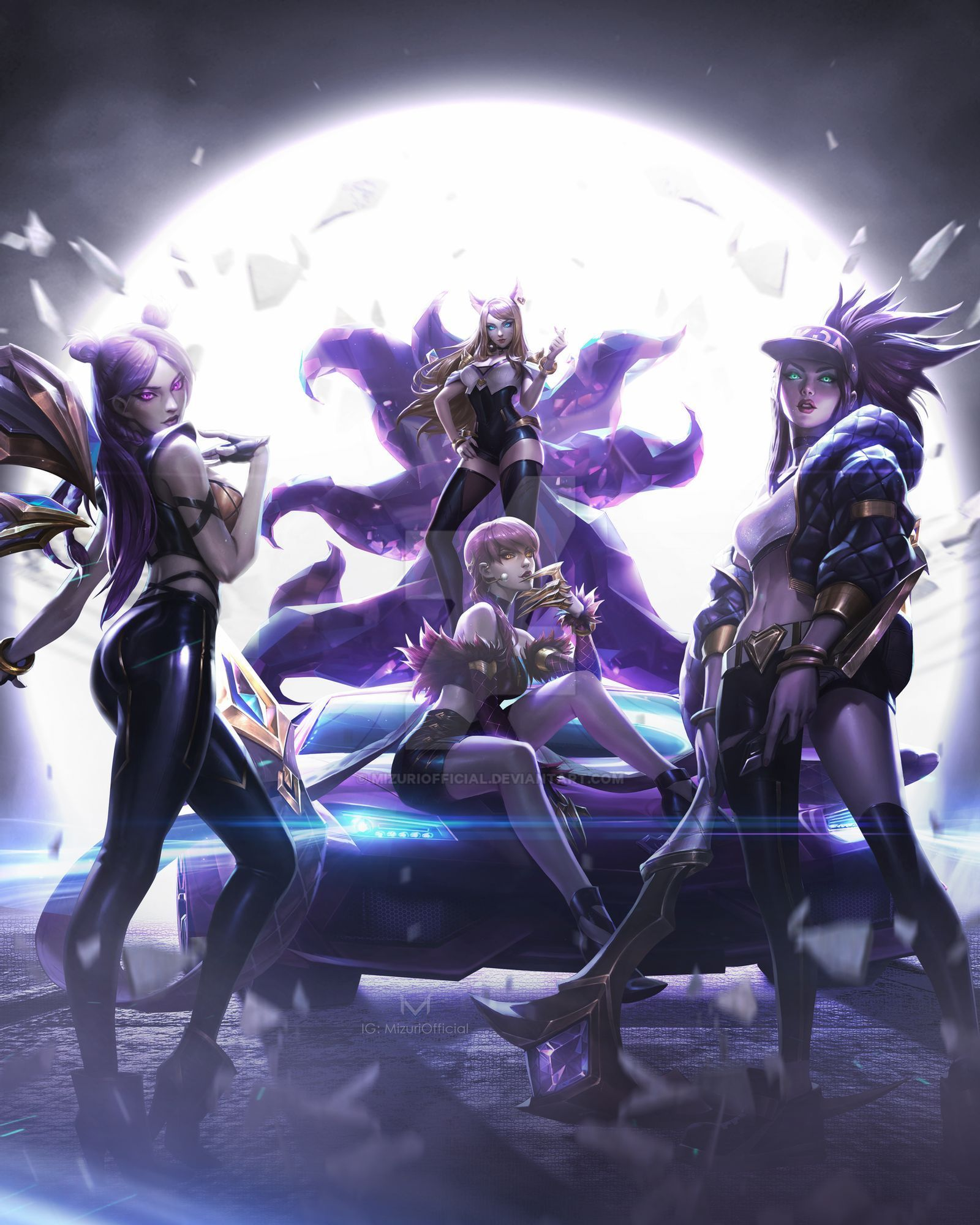 League Of Legends K Da Pop Stars By Mizuriofficial On Deviantart League Of Legends Lol League Of Legends League