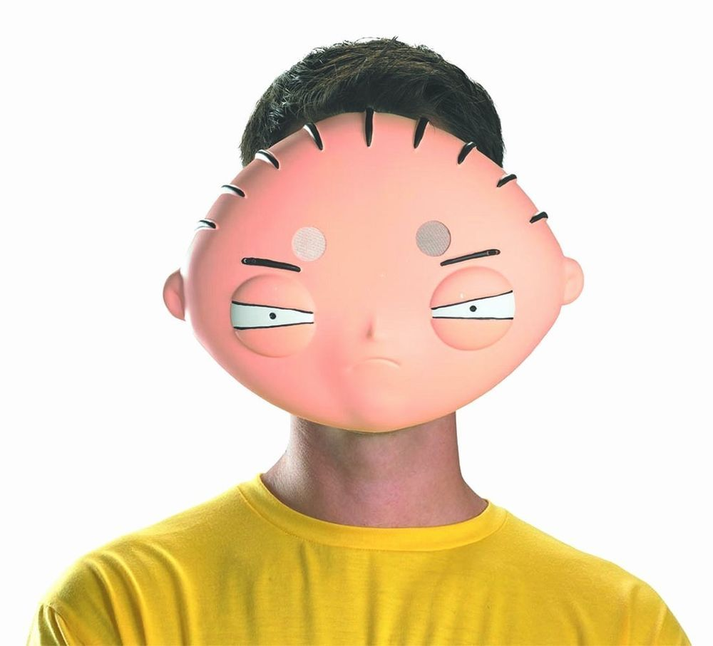 Details about Mask! Family Guy Stewie Adult Vacuform Mardi Gras ...