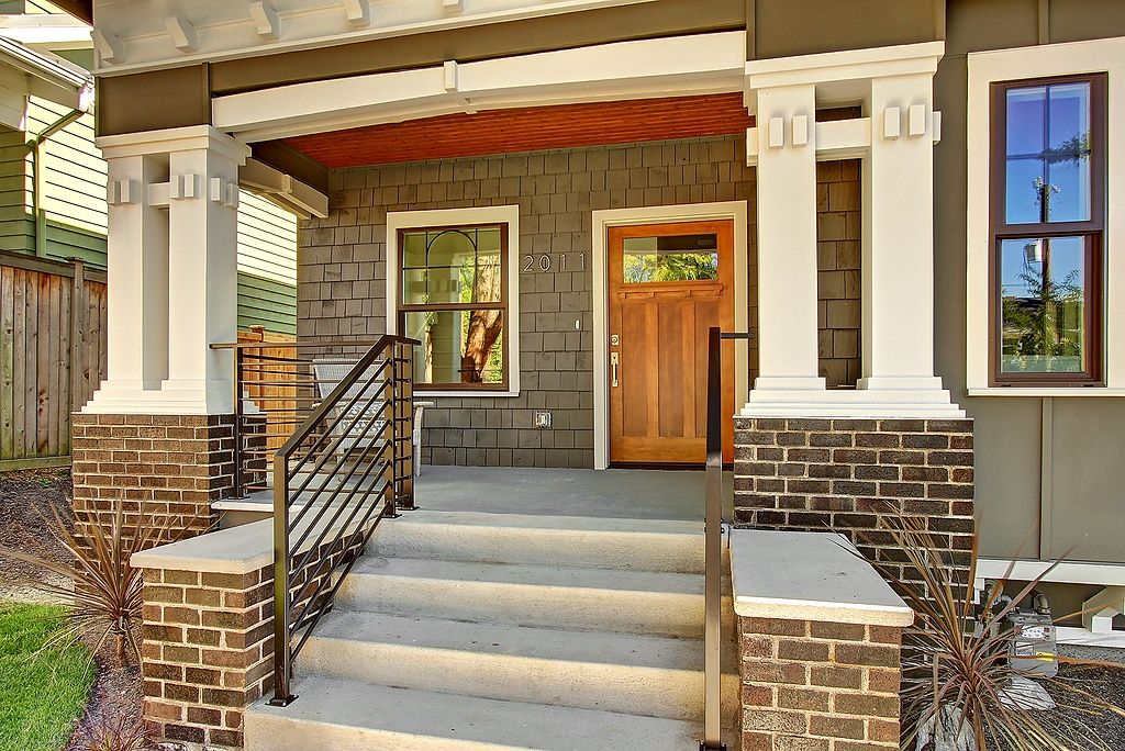 E Lynn Street Seattle WA Green Home Beautiful Front Porch