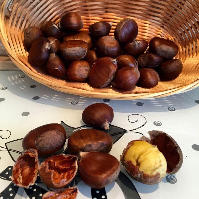 chaud les marrons !!! (châtaignes à l'actifry)   cuisine sucrée