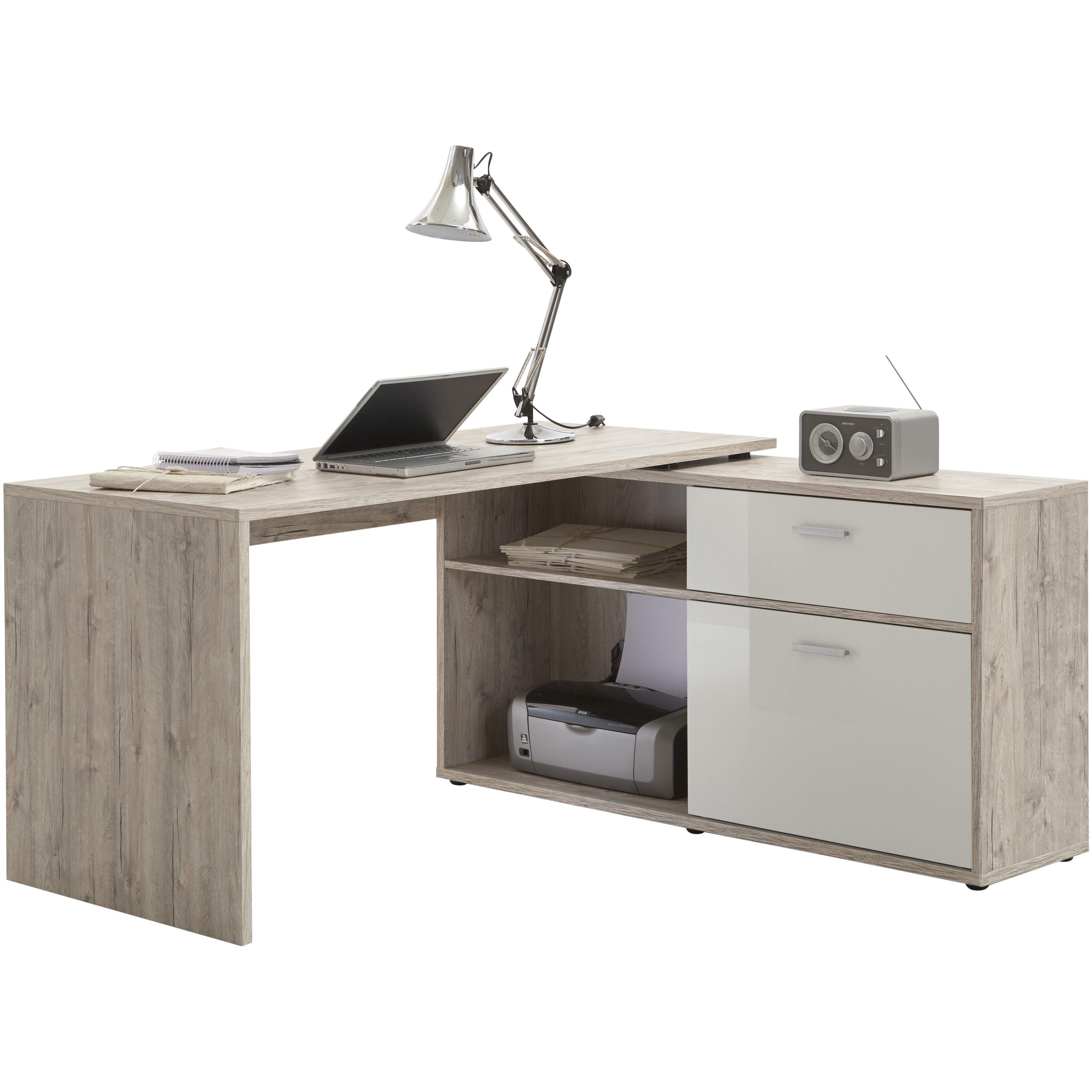 bureau d 39 angle diego ch ne gris joli espace bureau house pinterest escritorios. Black Bedroom Furniture Sets. Home Design Ideas