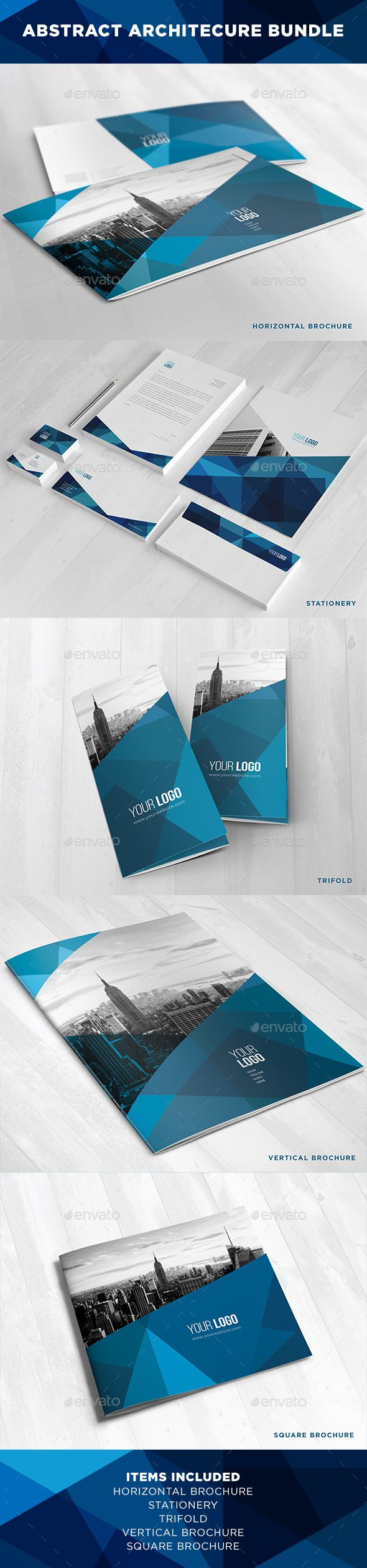 Abstract Architecture Bundle - Brochures Print Templates