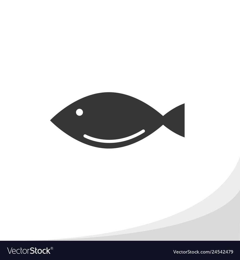 Fish Silhouette Icon Simple Flat Style Royalty Free Vector Aff Icon Simple Fish Silhouette Ad With Images Vector Free Flower Icons Icon Set Vector