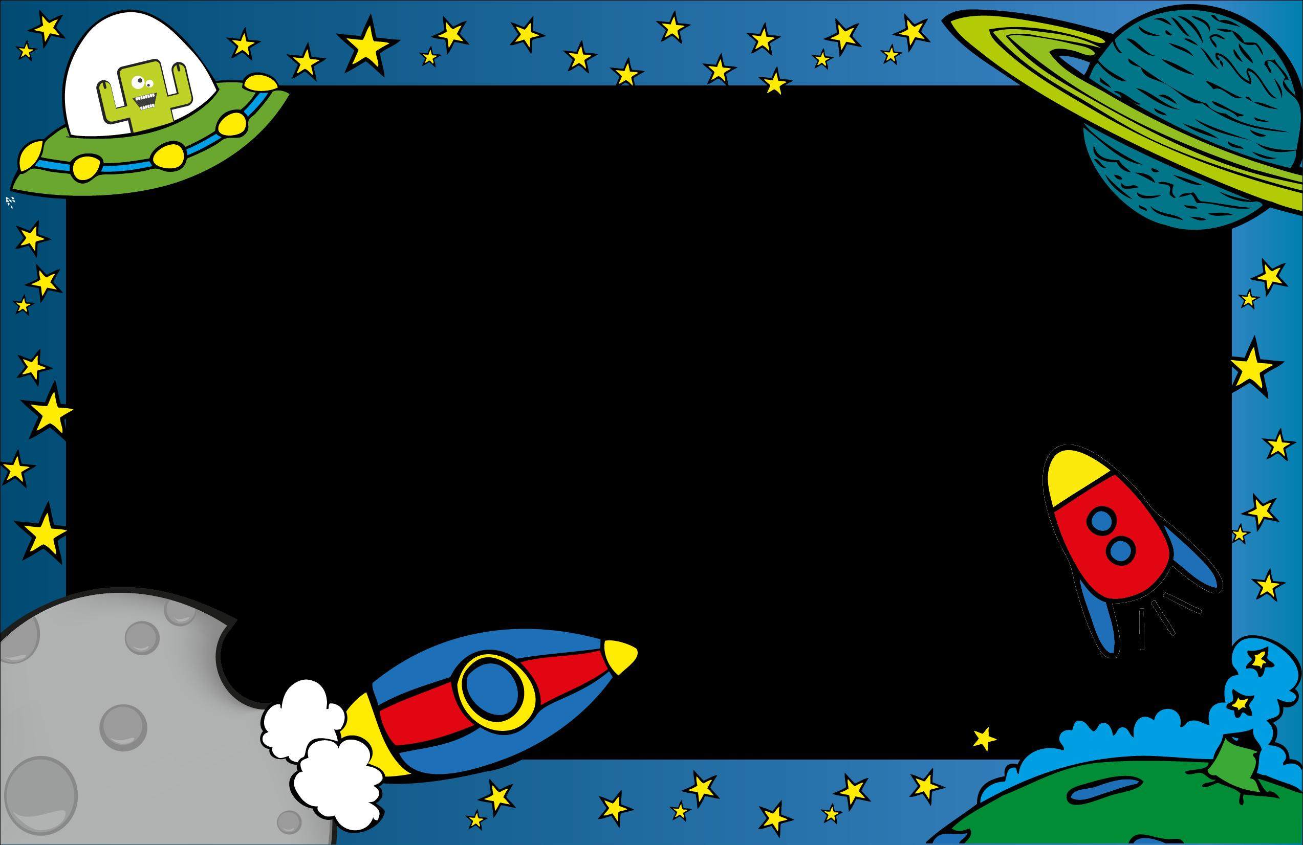 Bordes Infantiles Para Hojas Word Imagui Decorar Marcos - Bordes Del Sistema Solar - (2547x1662) Png Clipart Download. ClipartMax.com