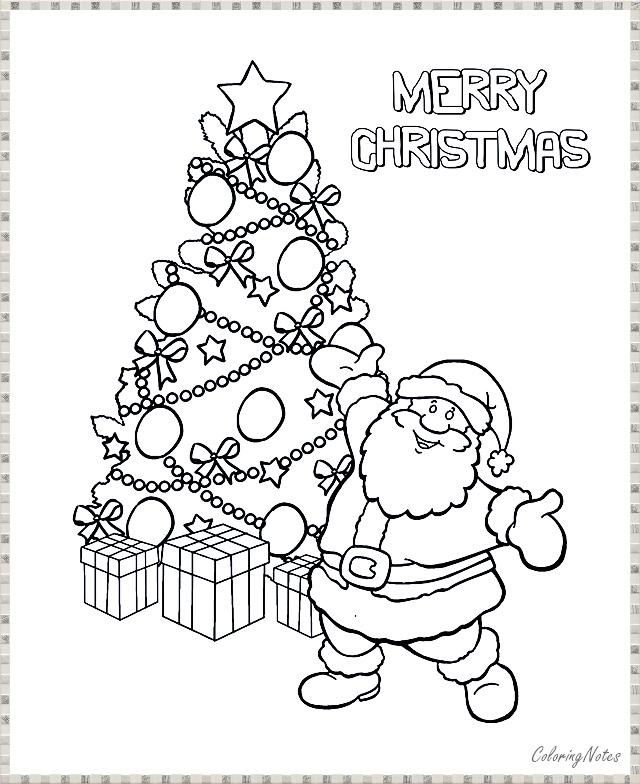 Santa Christmas Tree Coloring Pages Free Printable Santa Coloring Pages Christmas Tree Coloring Page Tree Coloring Page