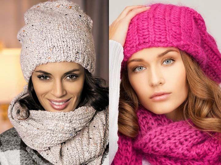Вязаные шапки для женщин. Схемы вязания 100 5