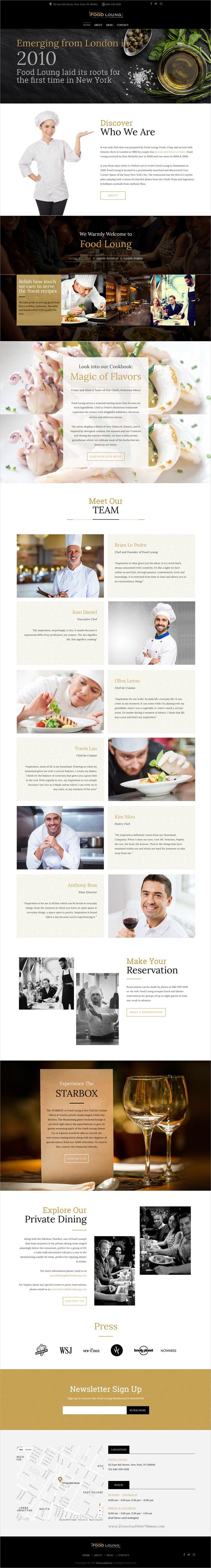 FOOD LOUNG - Restaurant Website Template