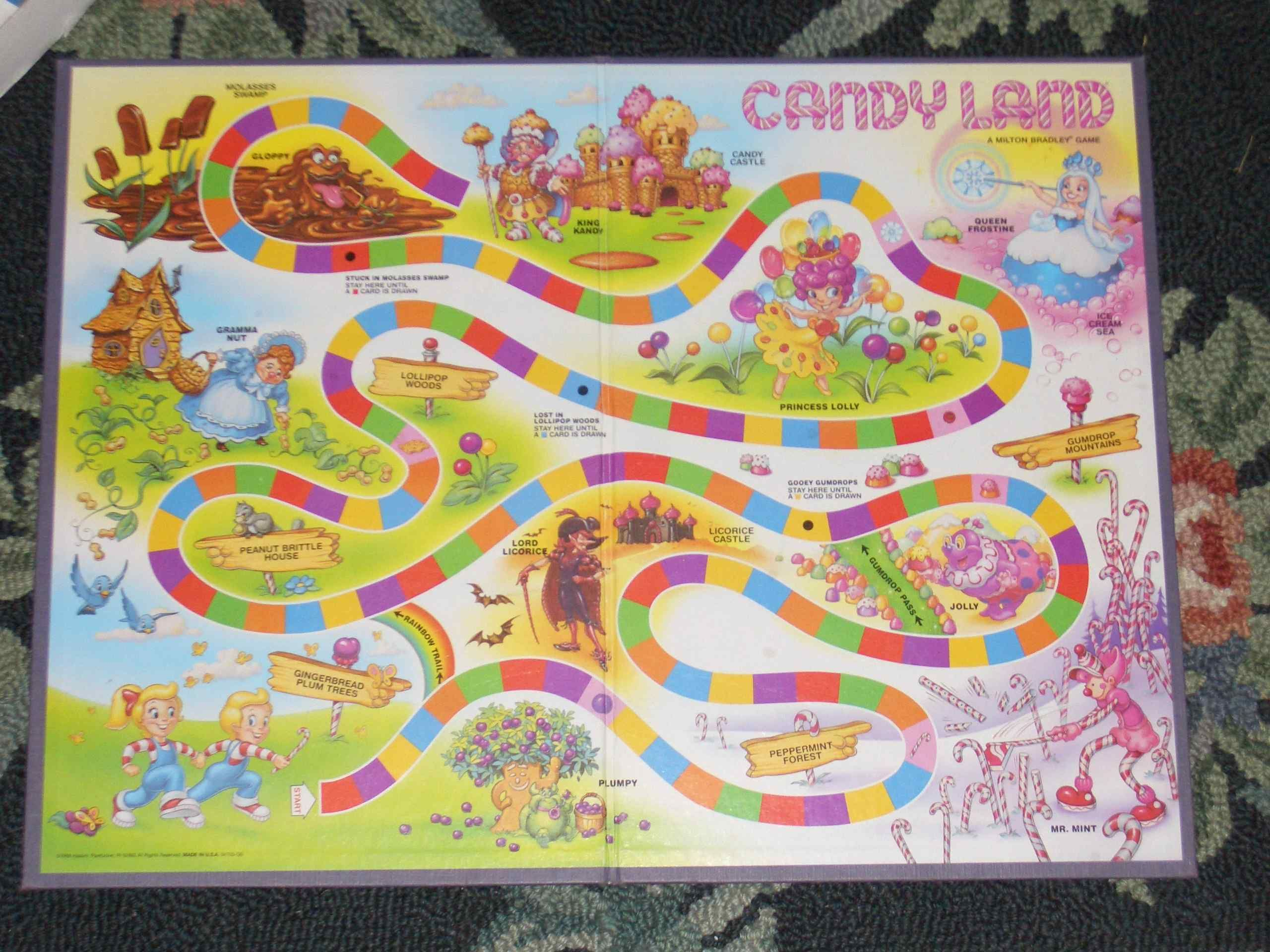 candyland board game | How to Make a Candy Land Board Game | eHow ...