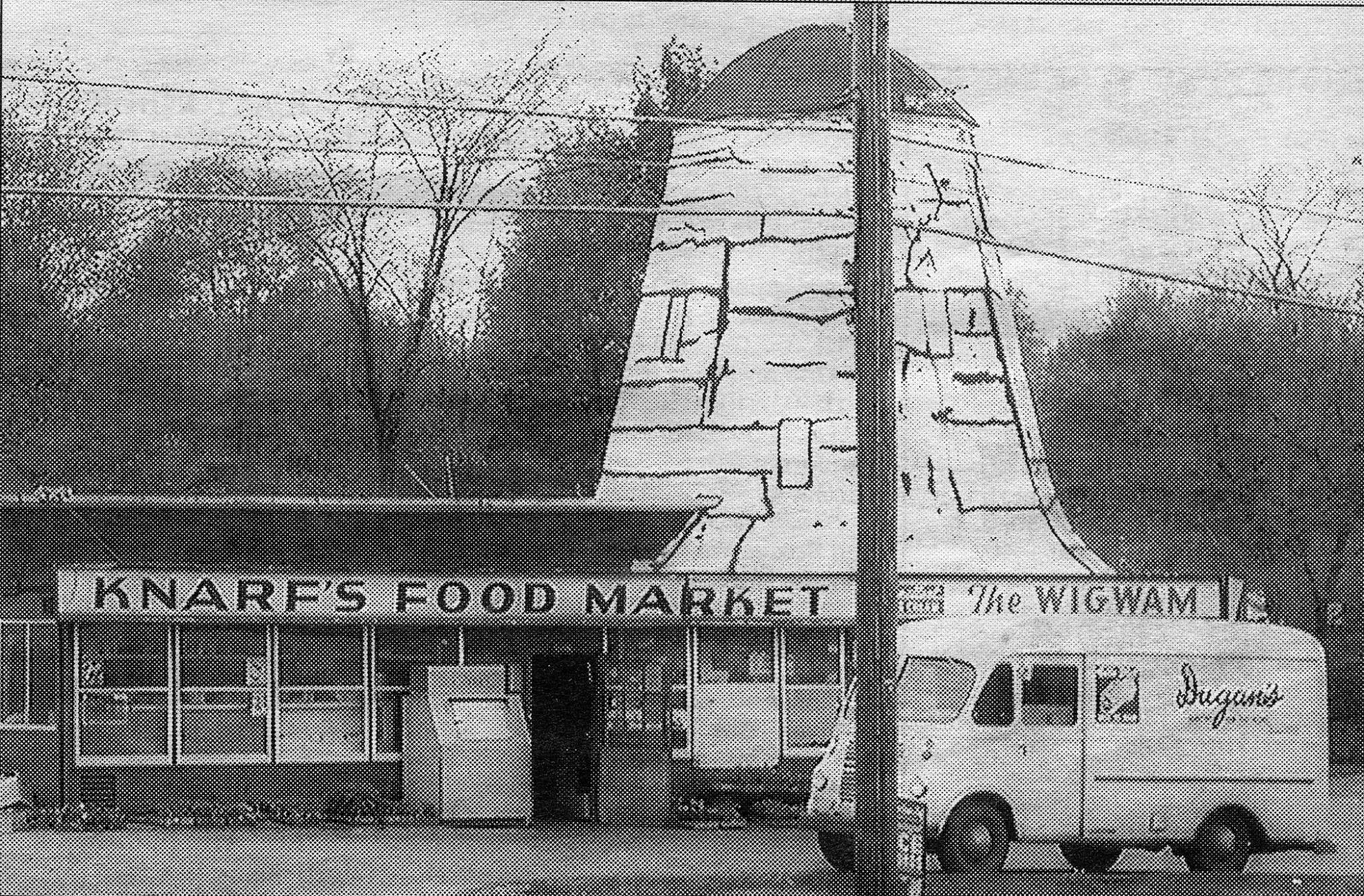 Knarfs market and the wigwam at the green in manchester