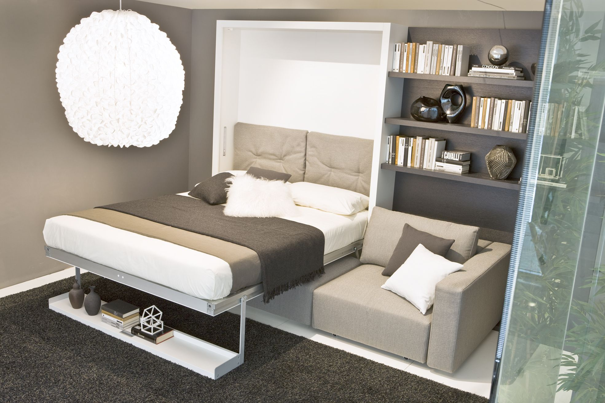 Beau Contemporary Home Interior Furniture Design, Swing Murphy Bed System By  Pierluigi Colombo Bed Detail