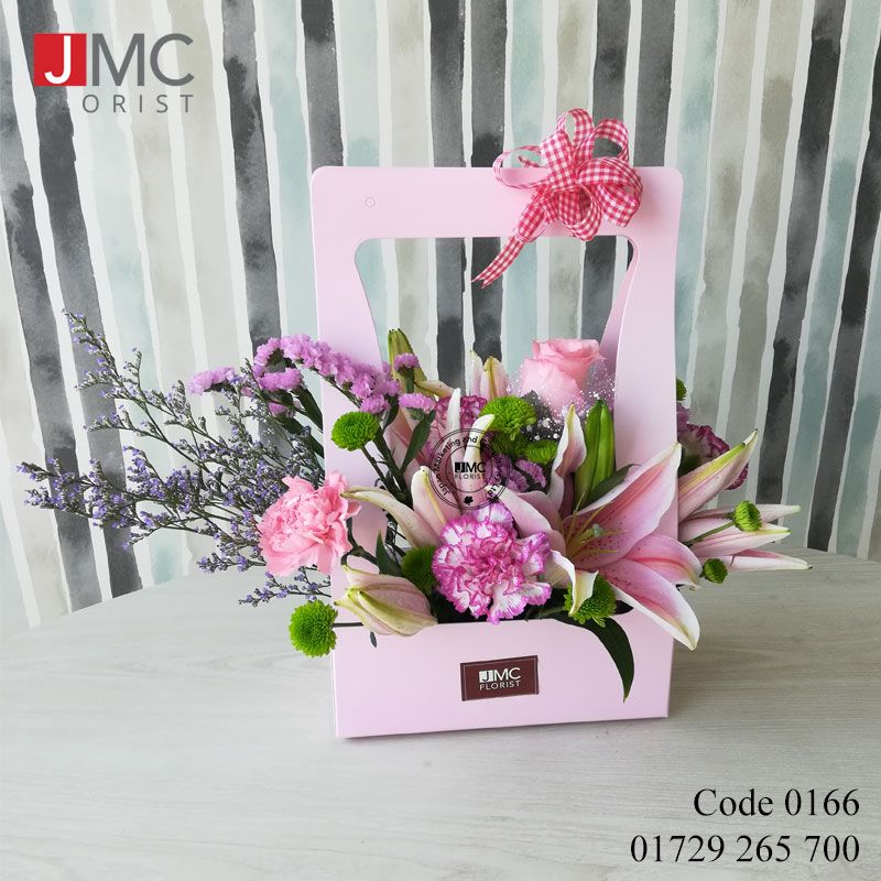 Mum Lily Carnation Limonium Gypsy Stardy Flower Paper Bag