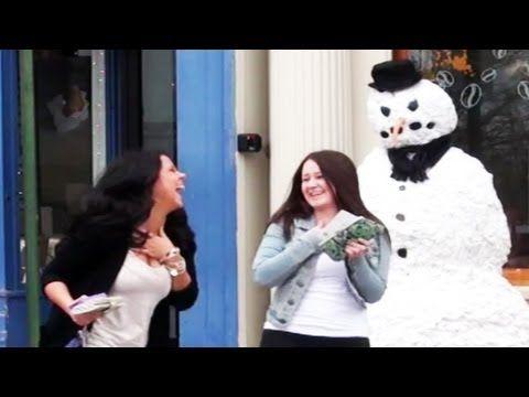 Funniest Hidden Camera Prank Ever Season 2 Episode 11 So Funny Snowman Prank Pranks Funny Gif