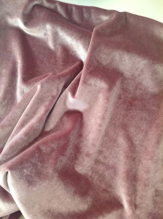 Pale Pink Hand Dyed LAMB/'S EAR Silk VELVET Fabric