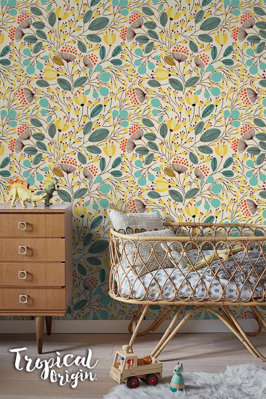 Yellow Spring Removable Wallpaper Nursery Wallpaper Etsy Removable Wallpaper Nursery Removable Wallpaper Nursery Wallpaper