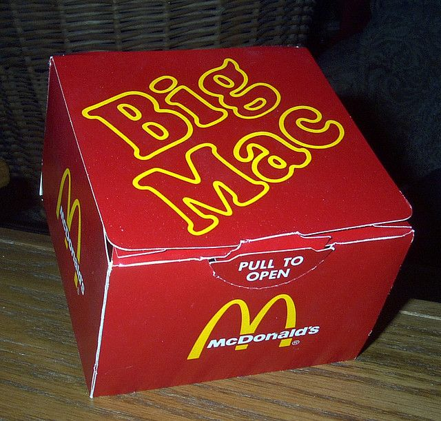you haven't had a big mac unless it was served in a box(cardboard!)
