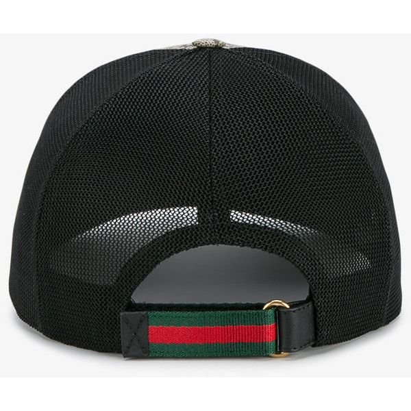 131a6083e45 Gucci Snake Print GG Supreme Baseball Cap ( 255) ❤ liked on Polyvore  featuring men s fashion