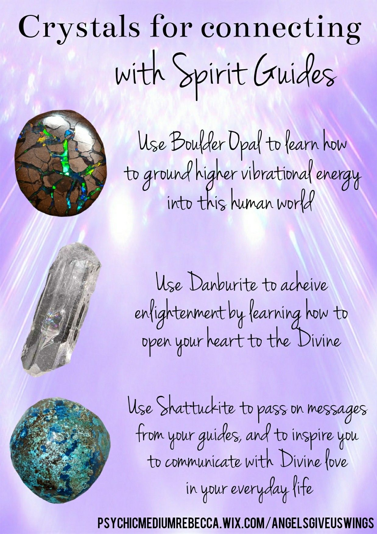 Crystals For Connecting With One S Spirit Guides Spiritual Crystals Chakra Crystals Crystal Therapy