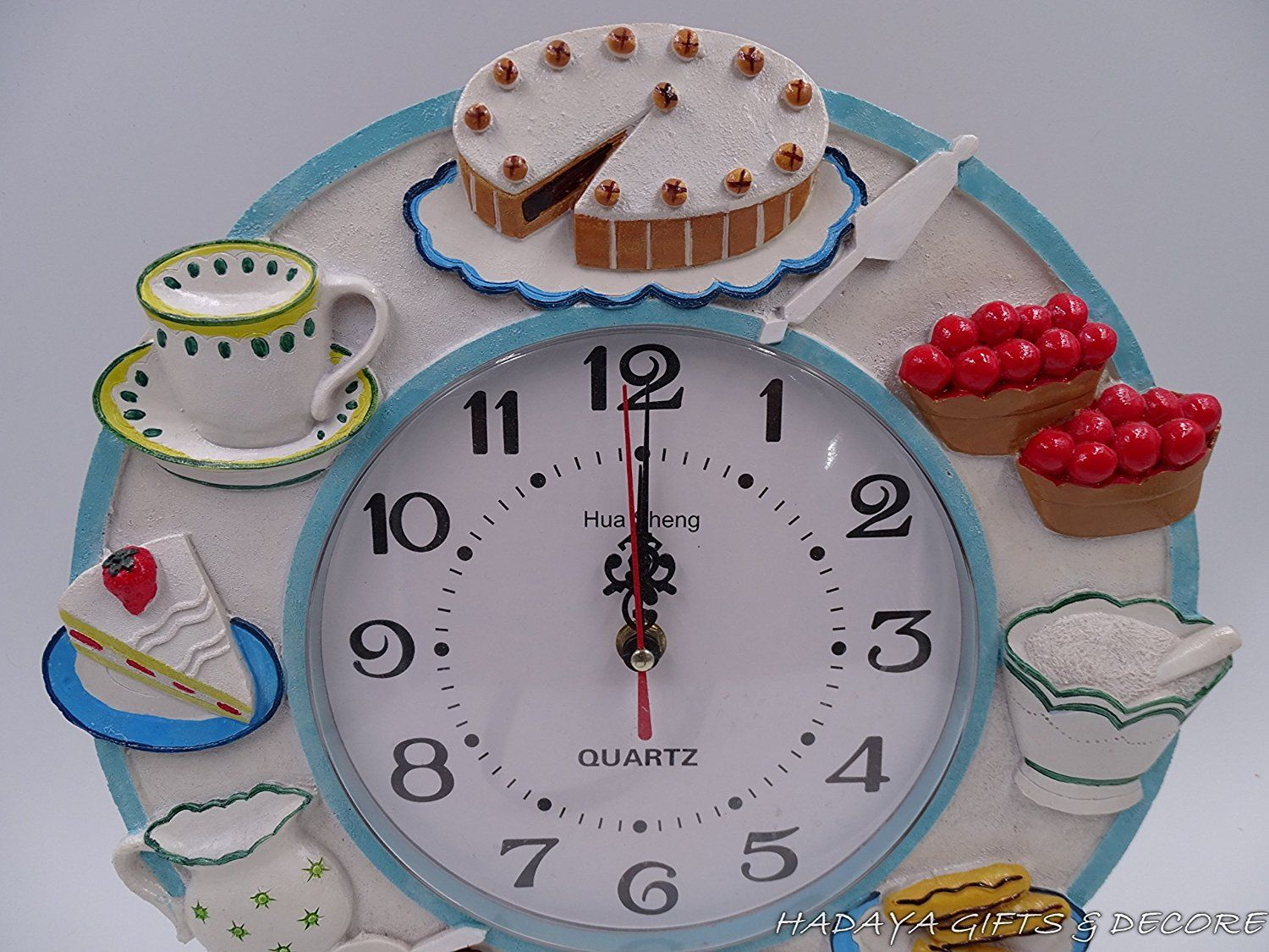 Amazon Com Decorative Fancy Dining Room Patasiere Themed Wall Clock Shabby Chic 12 Inch Round Kitchen Dining Dining Decor Shabby