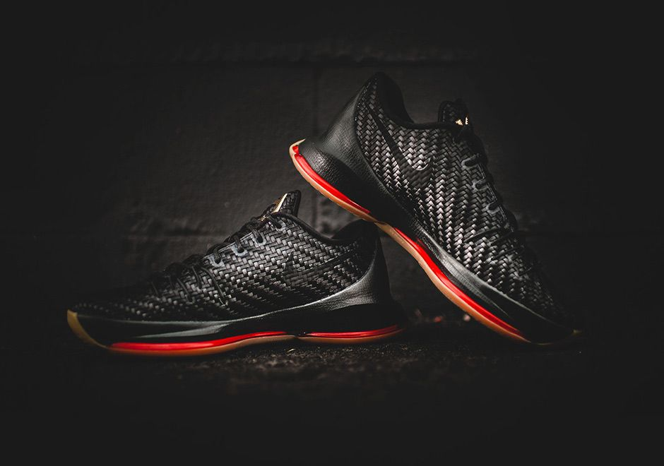 The premium Nike KD 8 EXT in a woven composition is showcased in more  detail. Look for this model at select Nike stores on November
