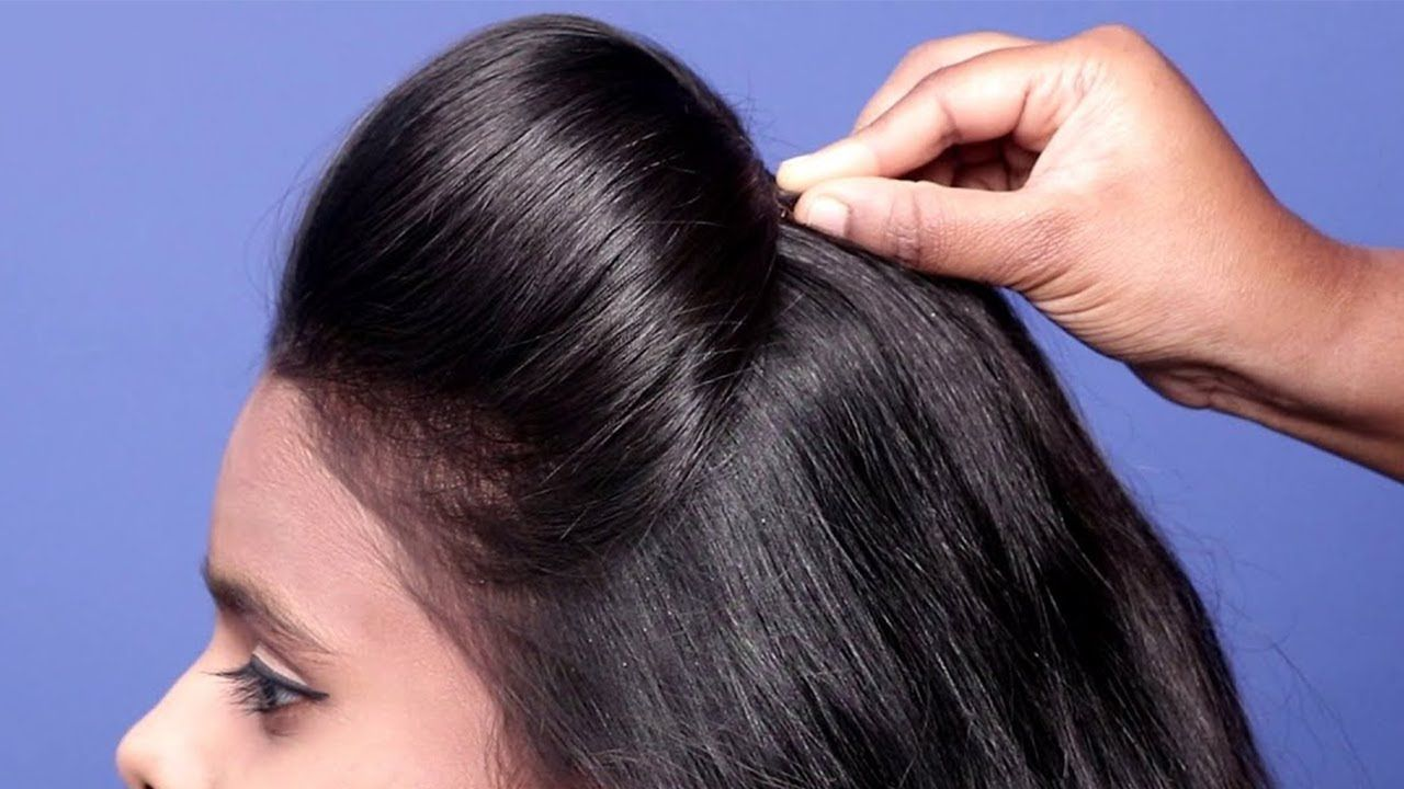 Quick Easy Hairstyle For Girls New Puff Hairstyle For Girl Latest Hair Puff Medium Hair Styles Hair Styles
