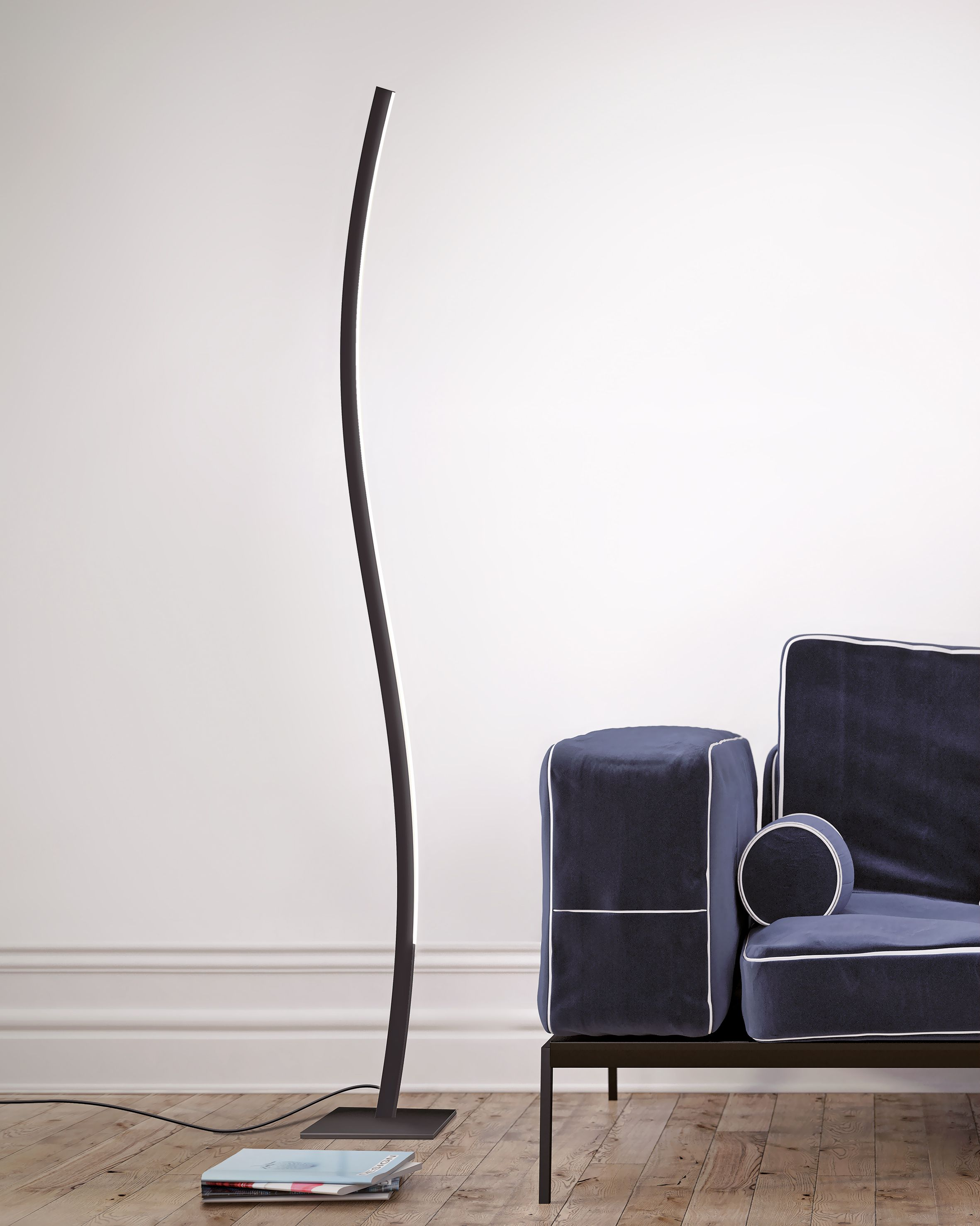 TEAM ITALIA Curve Sinuous light line for this floor lamp perfect for