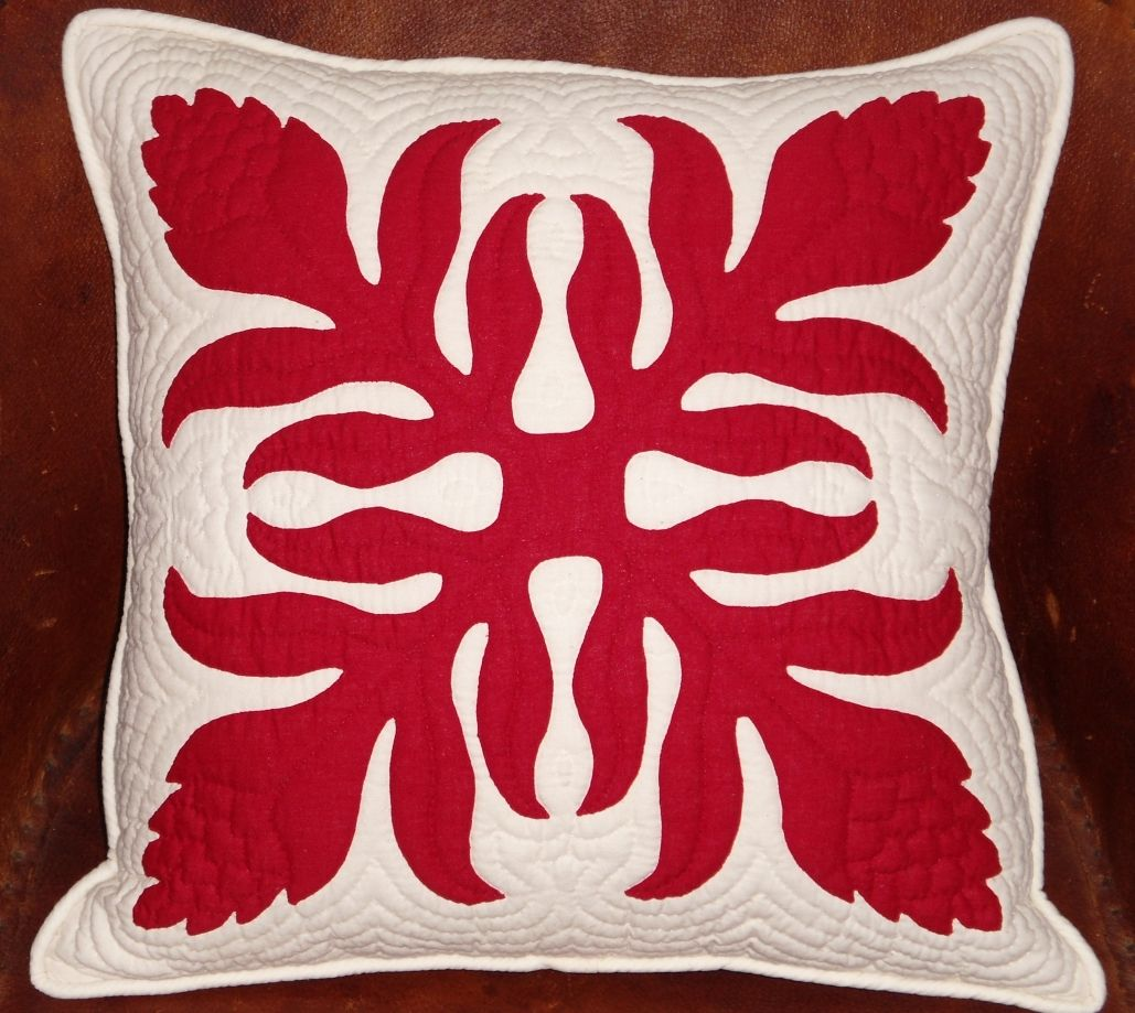 Hawaiian Quilt - Torch Ginger | Where I Live...... | Pinterest ... : hawaiian quilt pillows - Adamdwight.com
