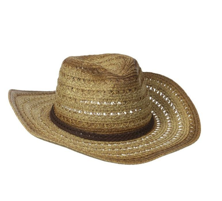 5038f0e4721 D Y Womens Cowboy Hat Marled Crochet Paper With Faux Suede Band NEW  DY   CowboyWestern  Everyday