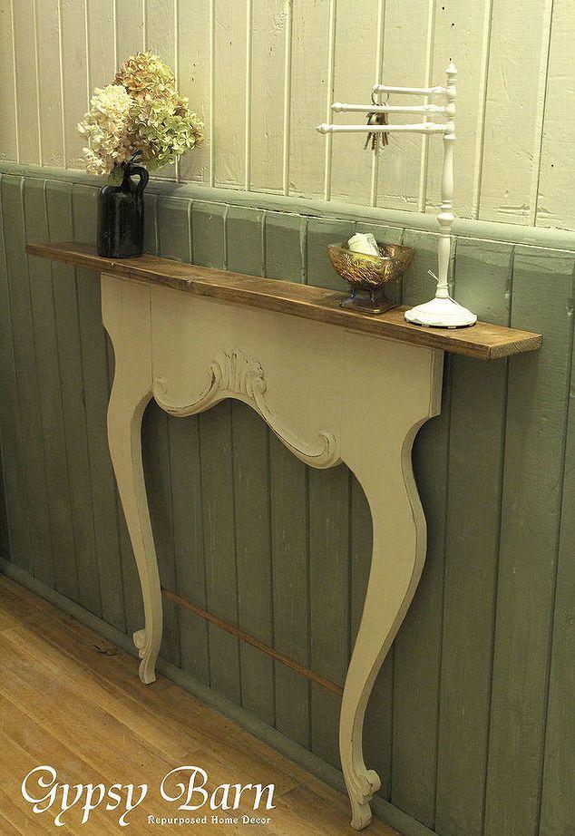 Repurposed Washstand Harps | Diy fireplace mantel, Fireplace mantel ...