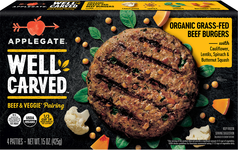 Organic 100 Grass Fed Beef Paired With Organic Cauliflower Spinach Lentils And Butternut Squash Deliver In 2020 Organic Grass Fed Beef Organic Beef Grass Fed Beef