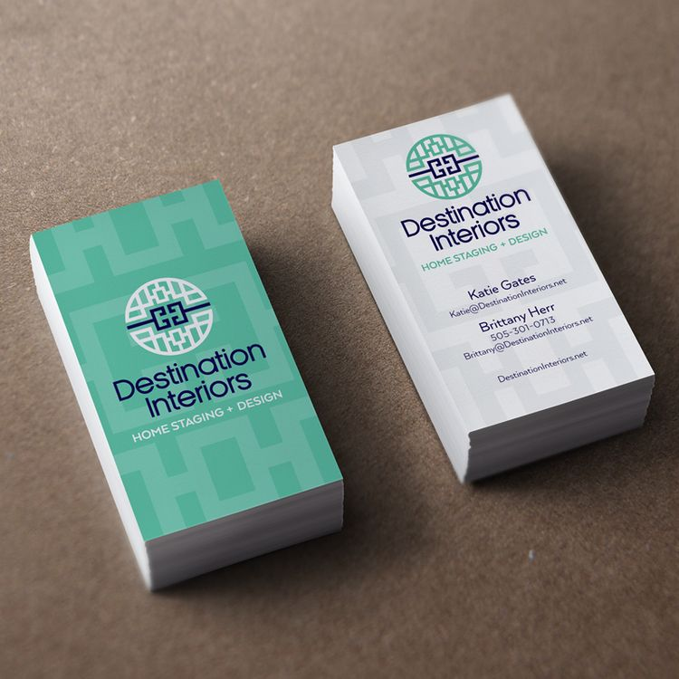 Beautiful Home Staging Business Cards For Destination Interiors via ...