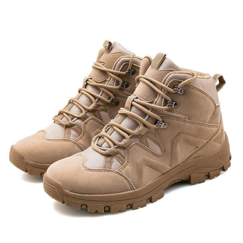 Men High Top Hiking Boots Ankle Desert Trail Combat Casual Casual Walking