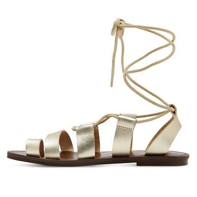 1e35a0ea86f Women s Lilac Gladiator Sandals - Mossimo Supply Co. Gold 11 ...